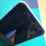 アイフォン6ガラス割れ交換修理前画像